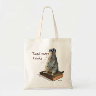 Nerdy Meerkat, hipster, goofy, librarian, funny Tote Bag