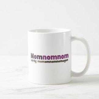 Nerdy Mom Omnom Classic White Coffee Mug