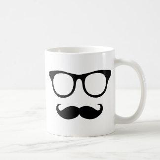 Nerdy Mustache Man Coffee Mug
