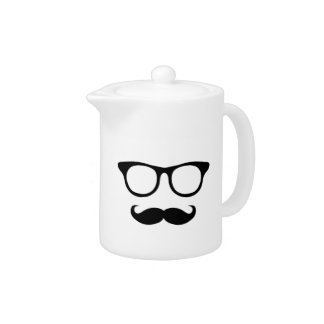 Nerdy Mustache Man Teapot
