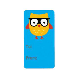 Nerdy Owl Gift tag