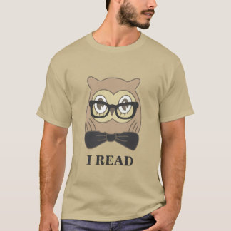 Nerdy OWL I Read T-Shirt