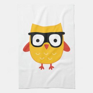 Nerdy owl kitchen towels