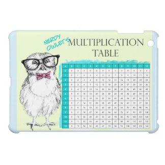 Nerdy Owl multiplication table iPad Mini Cover