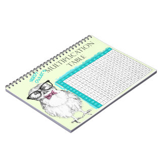 Nerdy Owl multiplication table Notebook