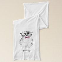 Nerdy owl scarf