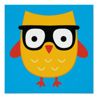 Nerdy owl perfect poster
