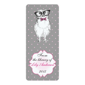 Nerdy Owlet - bookmark library 4x9.25 Paper Invitation Card
