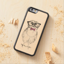 Nerdy owlet carved maple iPhone 6 bumper case