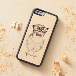 Nerdy owlet carved® maple iPhone 6 bumper case