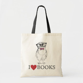 Nerdy Owlet library bird Tote Bag