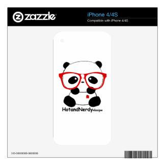 Nerdy Panda iPhone 4 Decals