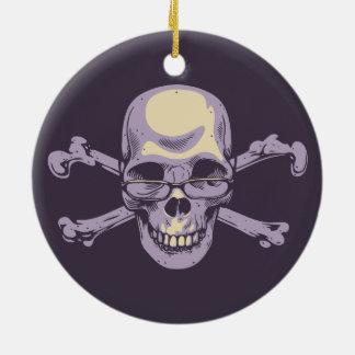 Nerdy Pirate Ceramic Ornament