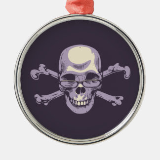 Nerdy Pirate Metal Ornament