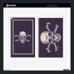 "Nerdy Pirate Skin For Kindle Fire<br><div class=""desc"">A smiling skull and crossbones looking up over his reading glasses,  in purple and tan. T-shirts,  sweats,  novelty gift swag.</div>"