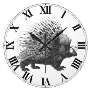Nerdy Porcupine Large Clock