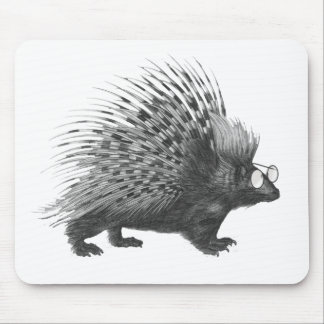 Nerdy Porcupine Mouse Pad