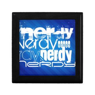 Nerdy; Rayas azules reales Joyero Cuadrado Pequeño