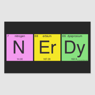 Nerdy Rectangular Sticker
