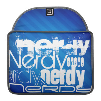 Nerdy; Royal Blue Stripes Sleeves For MacBooks