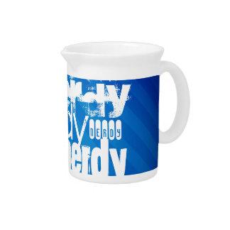 Nerdy; Royal Blue Stripes Beverage Pitchers