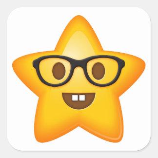 Nerdy Star Emoji Stickers
