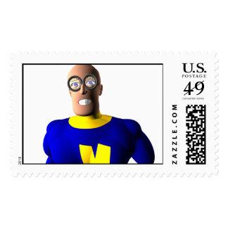 Nerdy Super Hero Stamp