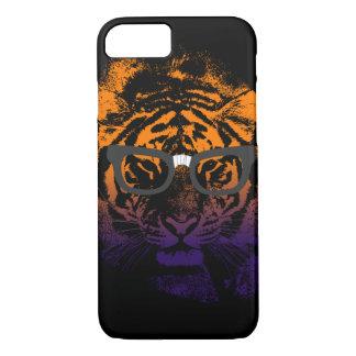 Nerdy Tiger in Glasses Dark iPhone 7 Case