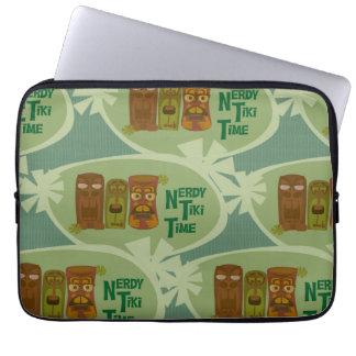 Nerdy Tiki Retro Statement Laptop Sleeve