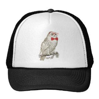 Nerdy Vintage Snowy Owl Trucker Hat