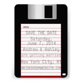 Nerdy Wedding Save The Date Floppy Disk Custom Announcement