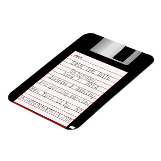 Nerdy Wedding Save The Date Floppy Disk Rectangular Photo Magnet