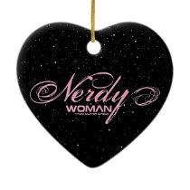 Nerdy Woman FOS Ceramic Ornament