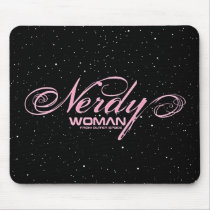 Nerdy Woman FOS Mouse Pad