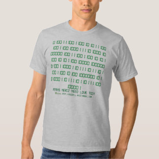 Nerdz Binary Hidden Message Tshirts
