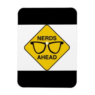 NERDZONE01 NERDS AHEAD WARNING SIGN FUNNY TECHNICA VINYL MAGNETS