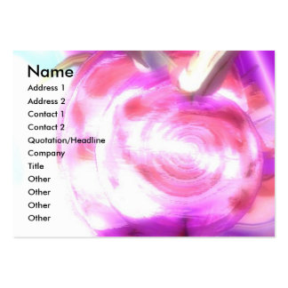 NEREIDE / NYMPH OF THE WATER WITH PINK SEASHELL LARGE BUSINESS CARD