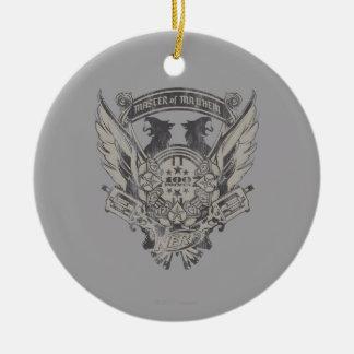 Nerf - amo de la mutilación adorno navideño redondo de cerámica