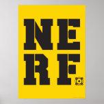 Nerf Block - Black Poster