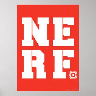 Nerf Block - White Poster