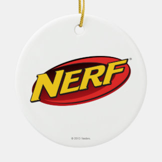 Nerf Logo Double-Sided Ceramic Round Christmas Ornament