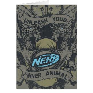 Nerf - provoque su animal interno tarjeta de felicitación