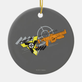 Nerf Recon Double-Sided Ceramic Round Christmas Ornament