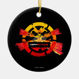 Nerf Strike Double-Sided Ceramic Round Christmas Ornament