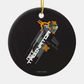 Nerf Taginator Double-Sided Ceramic Round Christmas Ornament