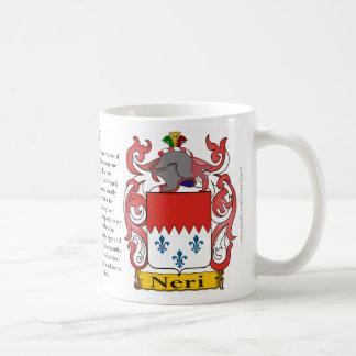 Neri, el origen, el significado y el escudo taza de café
