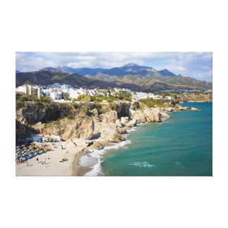 Nerja Coastline in Spain Canvas Print