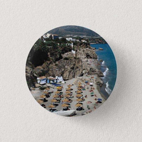 Nerja, Malaga, Spain Button