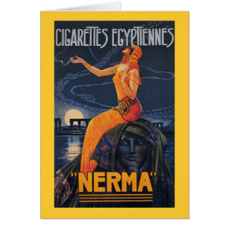 NERMA Cigarettes Egyptiennes Card