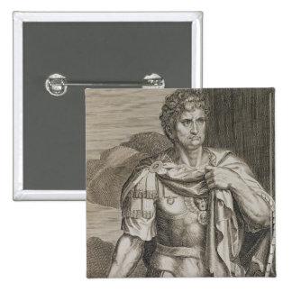 Nero Claudius Caesar Emperor of Rome 54-68 AD engr 2 Inch Square Button